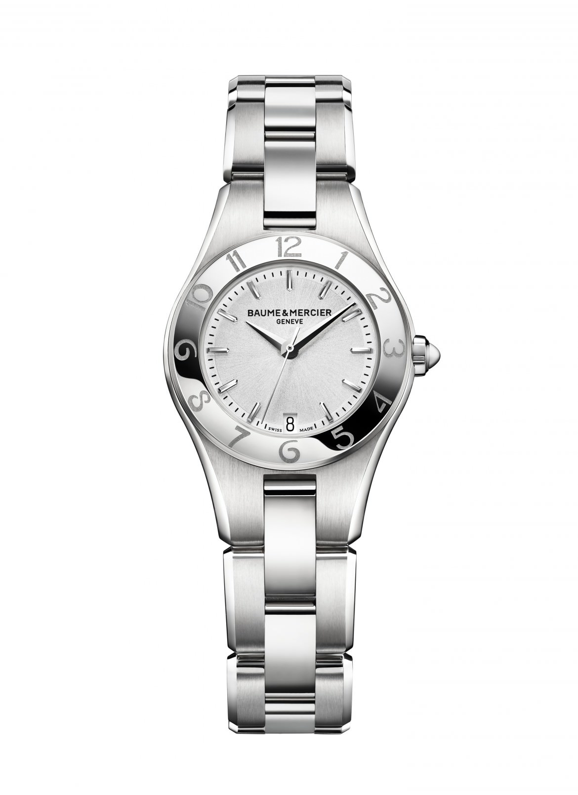 Watch Linea steel quartz watch. Ladies, round, 27mm, interchangeable strap