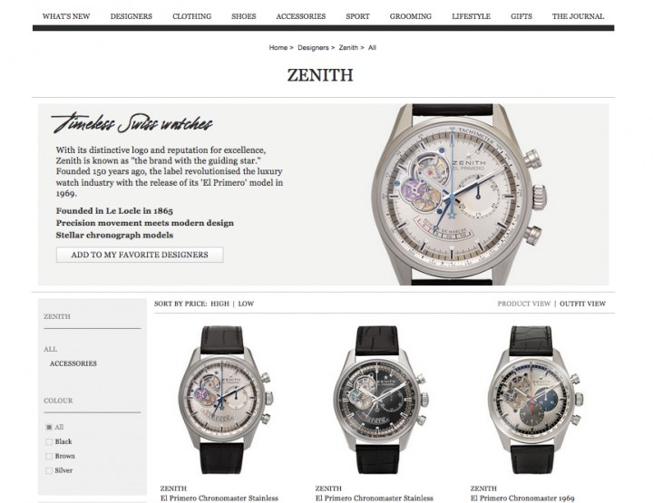 Zenith: Online-Premiere mit El Primero