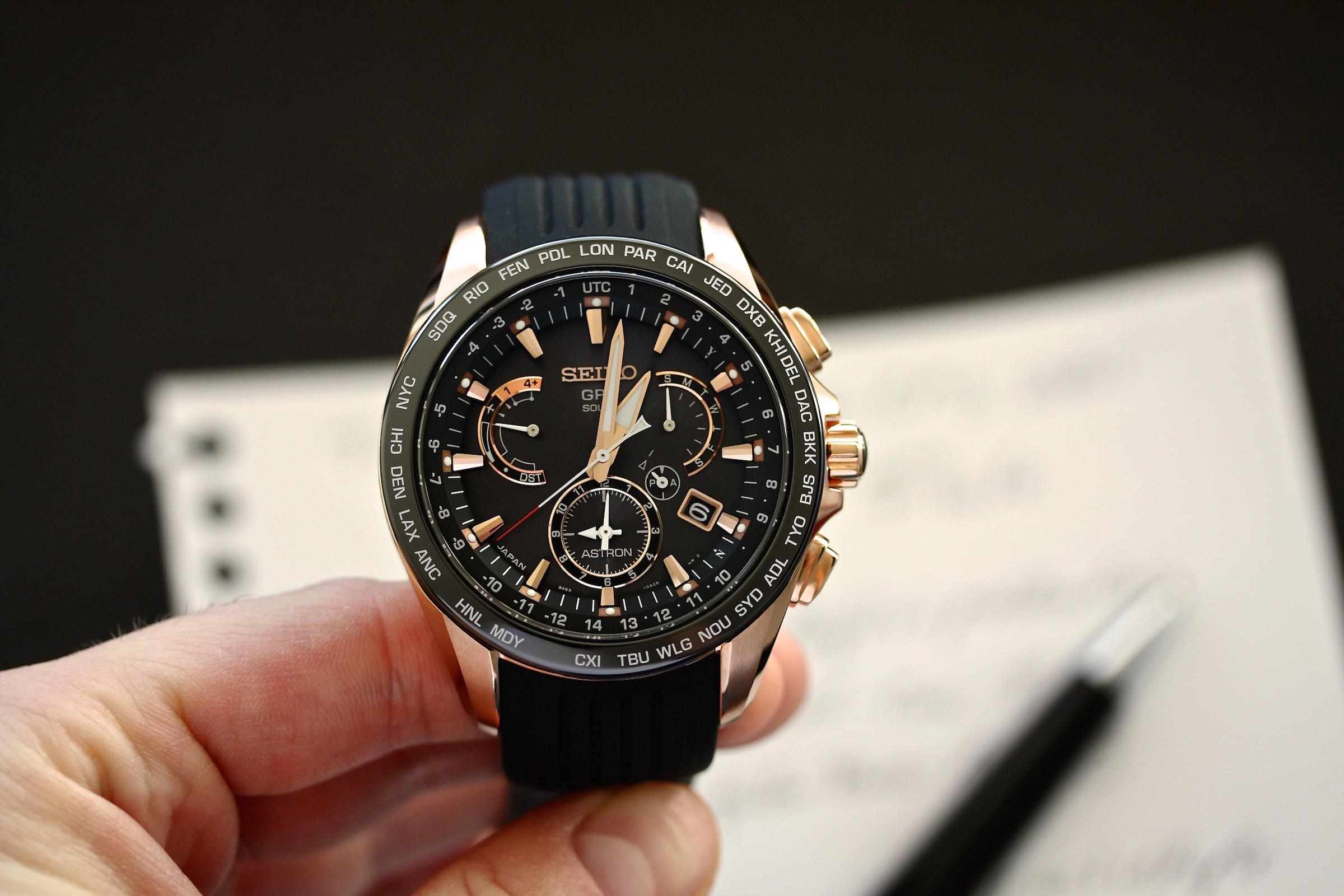 Armbanduhr am arm  Tragebuch: Seiko Astron GPS Solar - Watchlounge