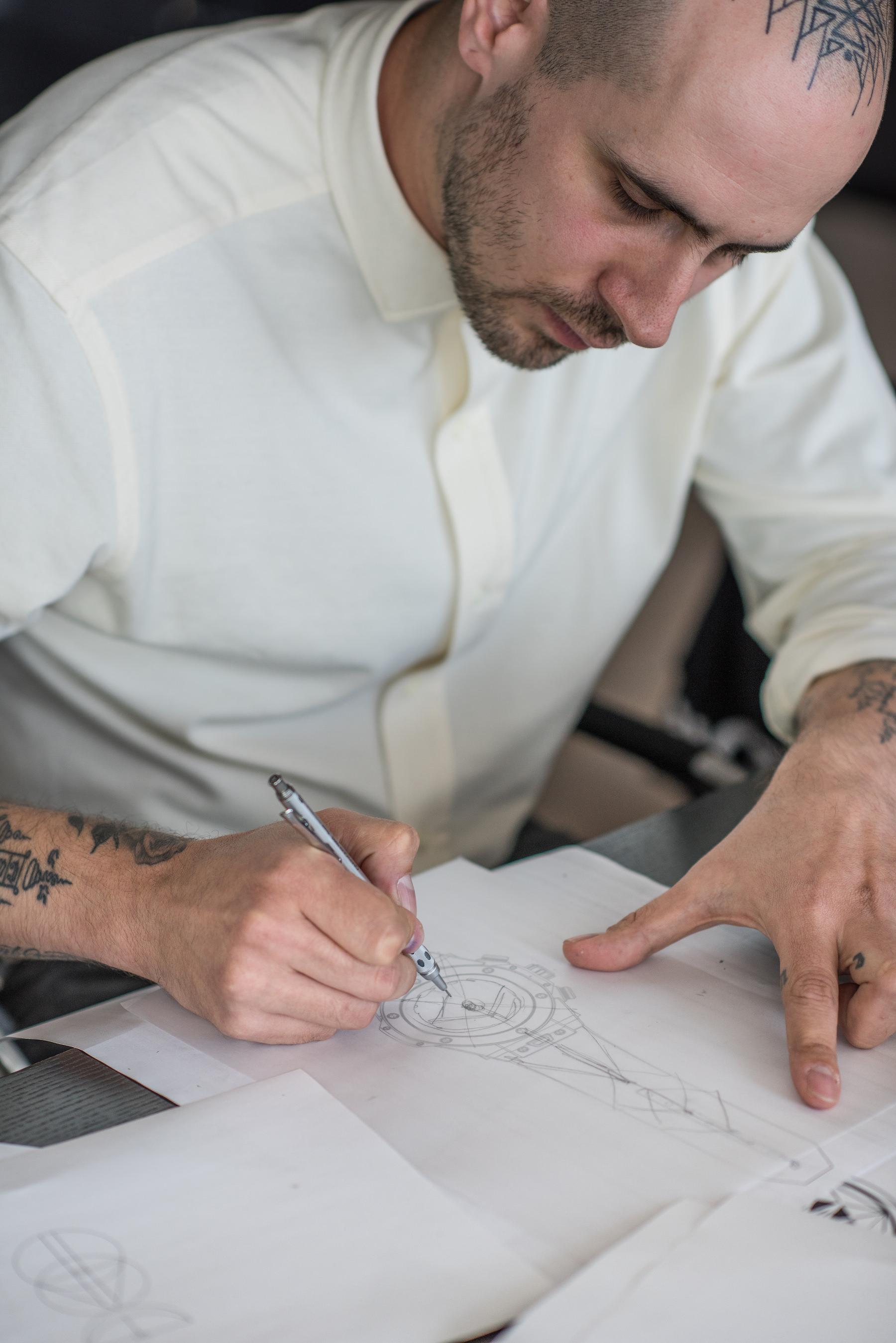 Maxime Buchi bei der Arbeit