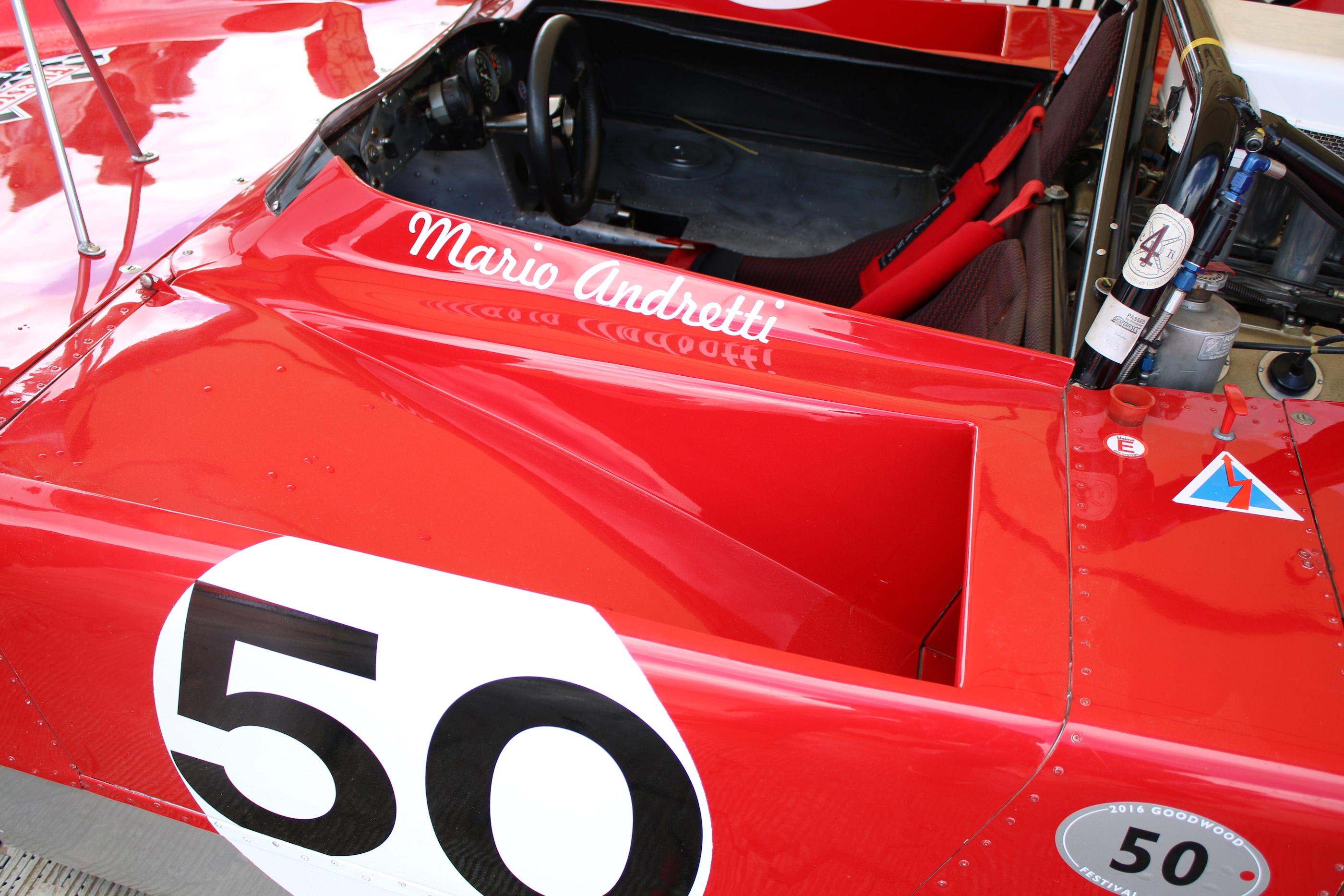 Ferrari gefahren von Mario Andretti