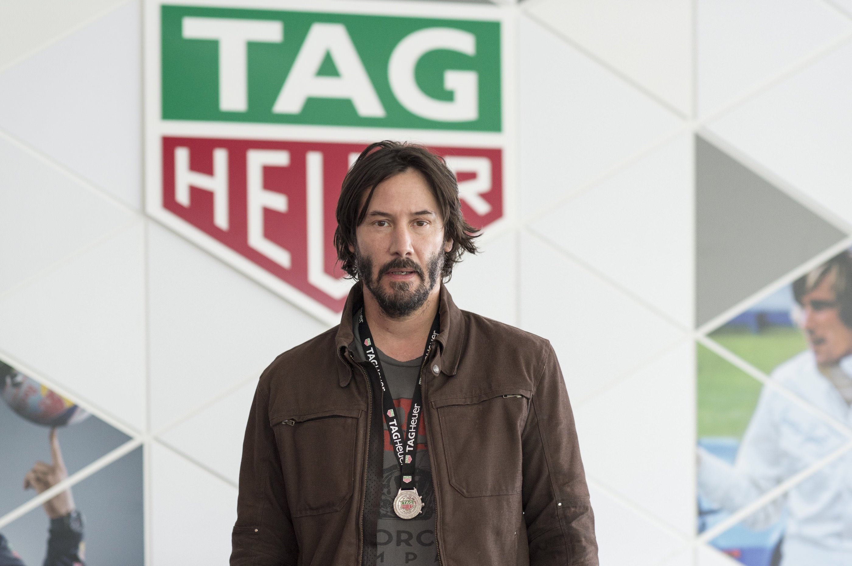 Keanu Reeves im TAG Heuer Drivers Club