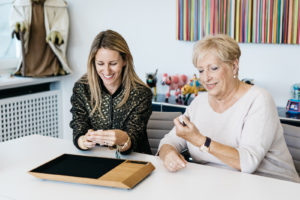 Schmuckdesignerin Carolina Bucci (links) & Uhrendesignerin Jacqueline Dimier (rechts)