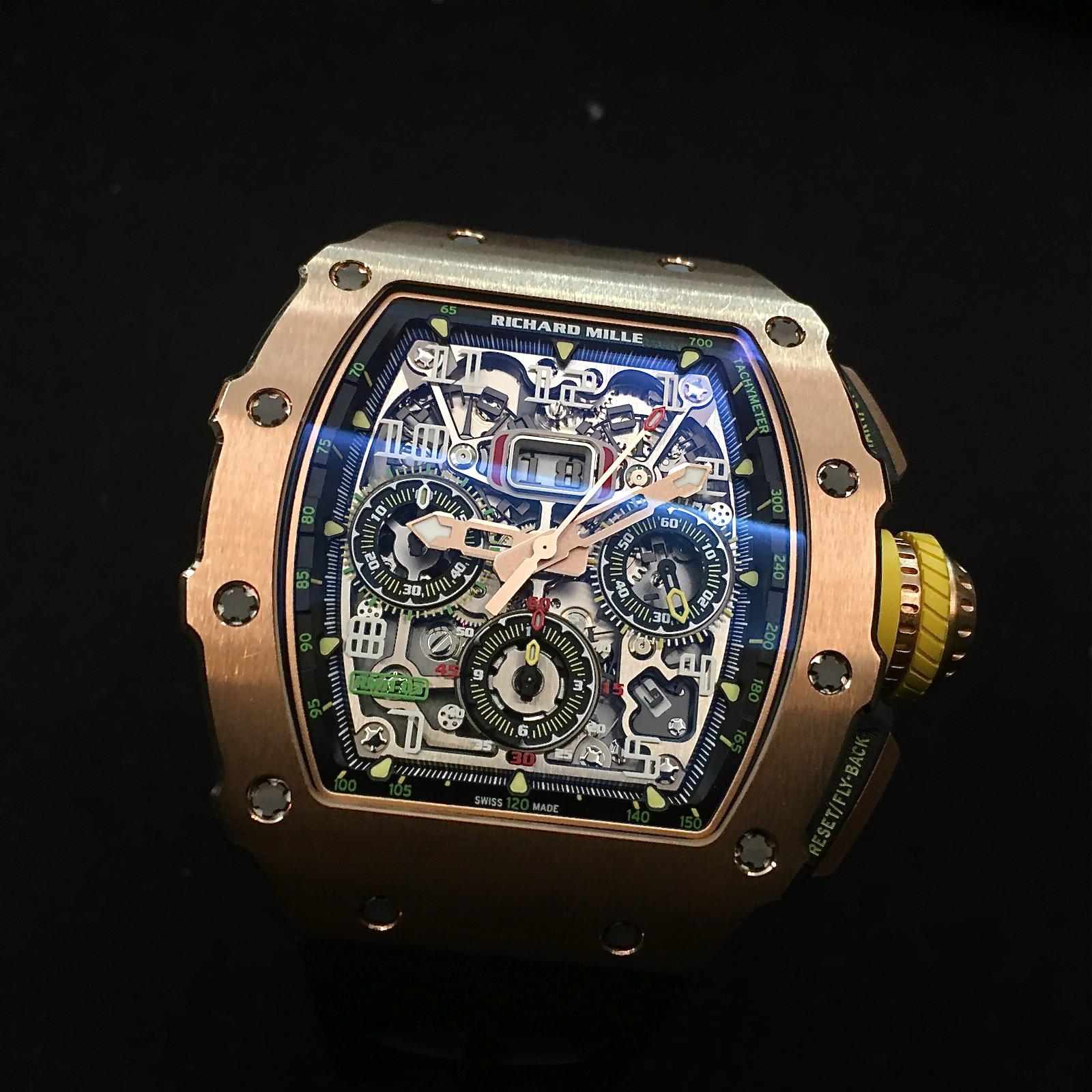 Richard Mille Kaliber RM 11-03 Automatik Flyback Chronograph. Preis: 170.500 Euro.