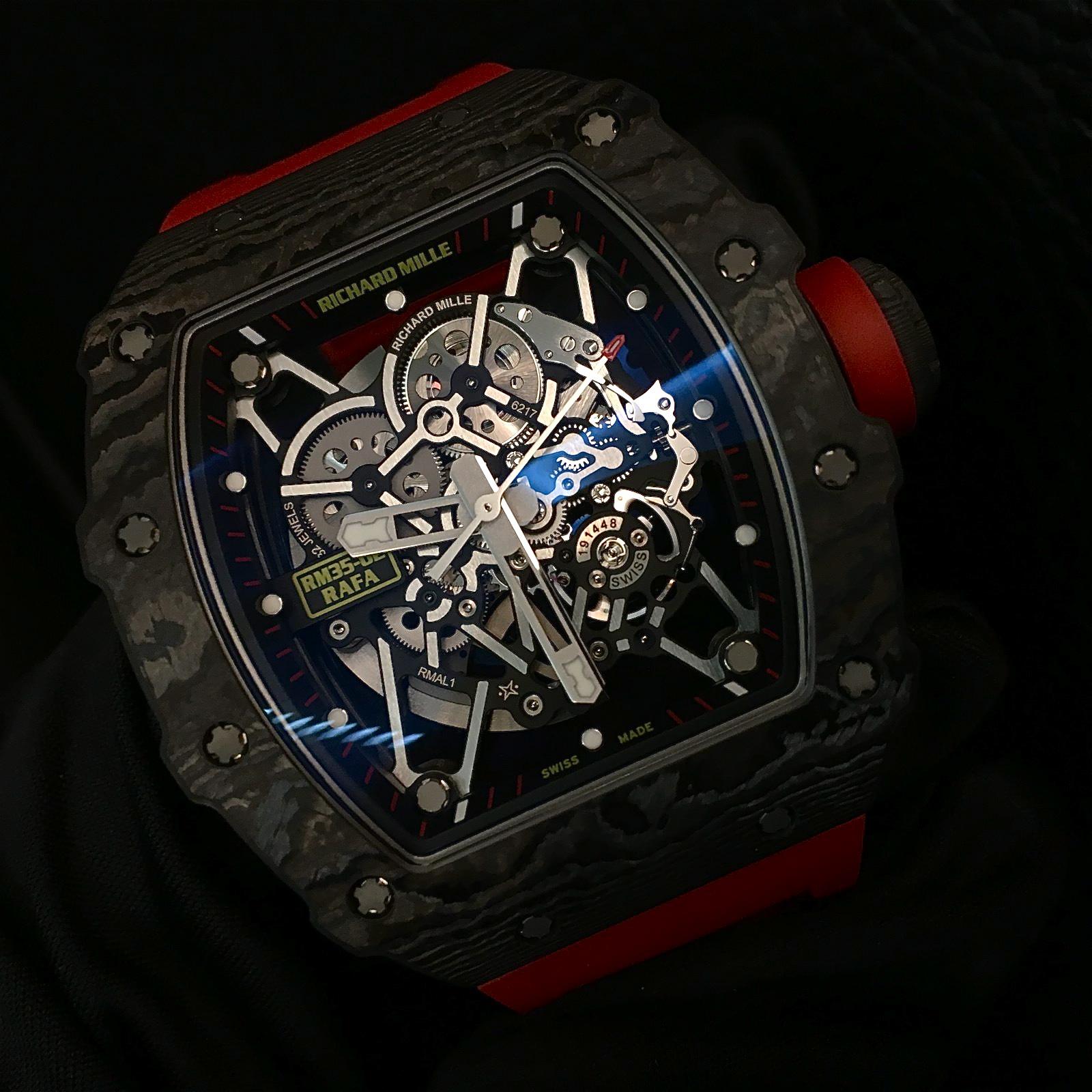 Die automatische Richard Mille RM 35-02 Rafael Nadal. Preis: 138.000 Euro