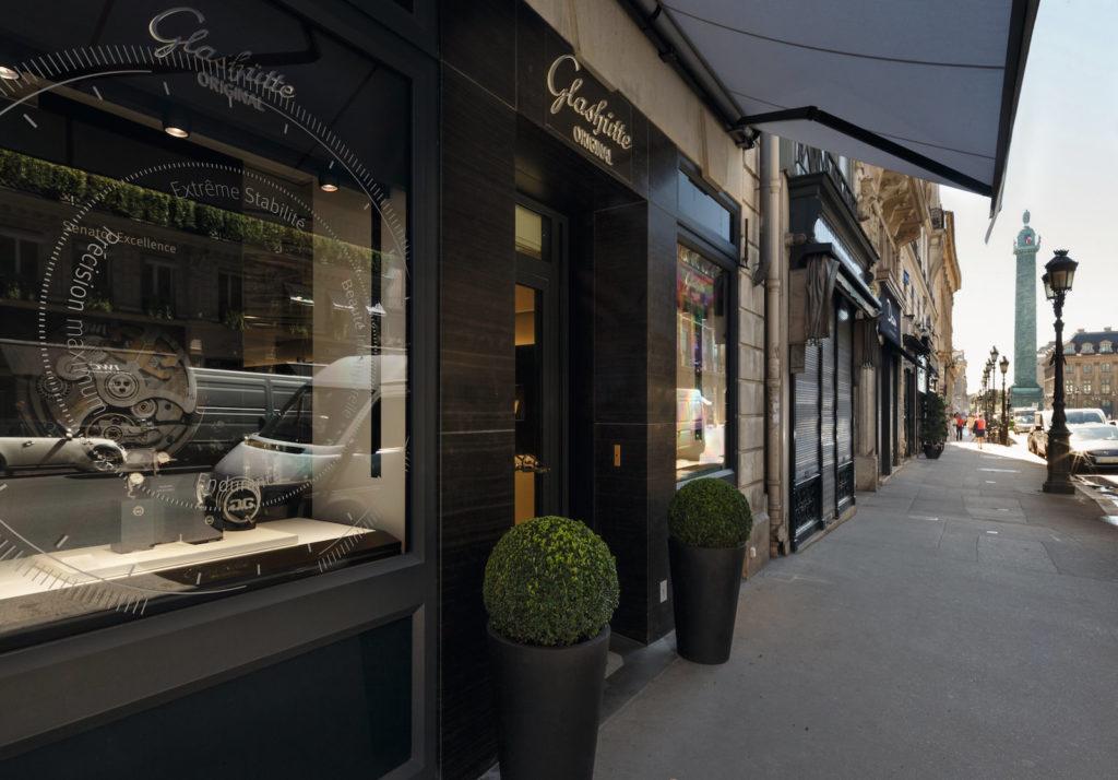 Glashütte Original Boutique Paris mit Blick auf den Place Vendôme