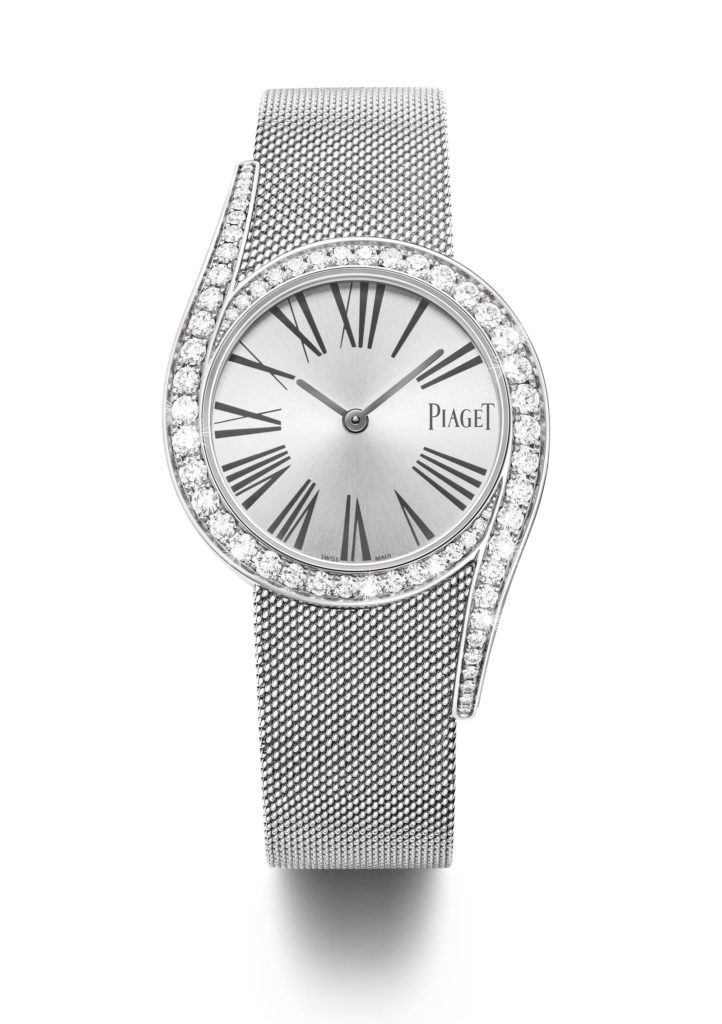 Piaget Limelight Gala mit Milanaise-Armband in 18k Weißgold.