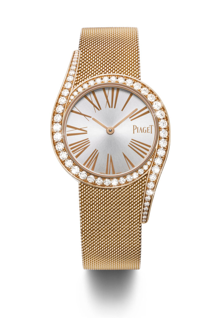 Piaget Limelight Gala mit Milanaise-Armband in 18k Roségold.