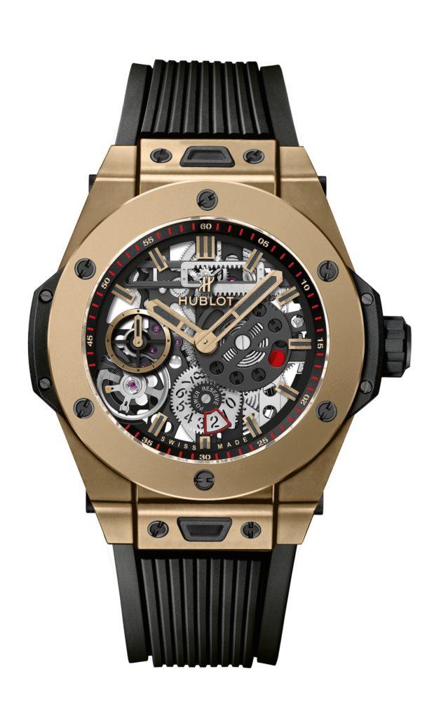 Die BIG BANG MECA-10 ist der Inbegriff der Hublot-Philosophie. Diese Uhr symbolisiert den Weg der Manufaktur Hublot mit seinen zahlreichen Weltpremieren, die vom Pioniergeist des Hauses zeugen. Denn für Hublot bergen Materialien unendliche Gestaltungsmöglichkeiten und Uhrwerke die Chance, neue Branchenstandards zu setzen.