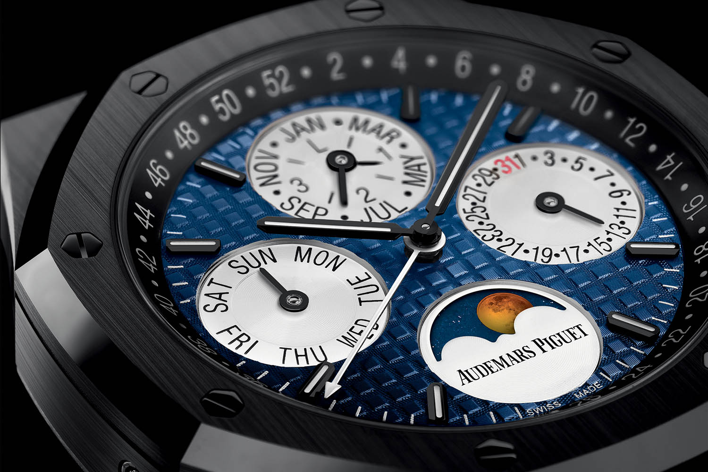 Audemars PiguetRoyal Oak Perpetual Calendar black ceramic blue dial - Only Watch 2017