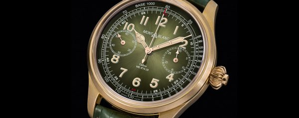 Only Watch 2017 – Unique Montblanc 1858 Chronograph Tachymeter With Bronze Case and Vintage Green Dial