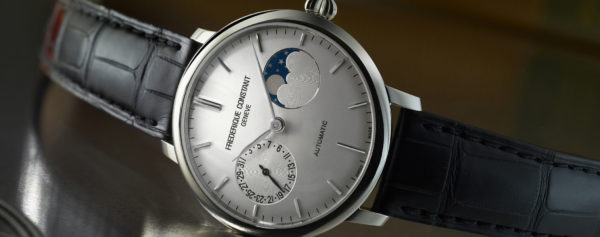 Frédérique Constant Updates the Slimline Moonphase Manufacture with New Display and Case