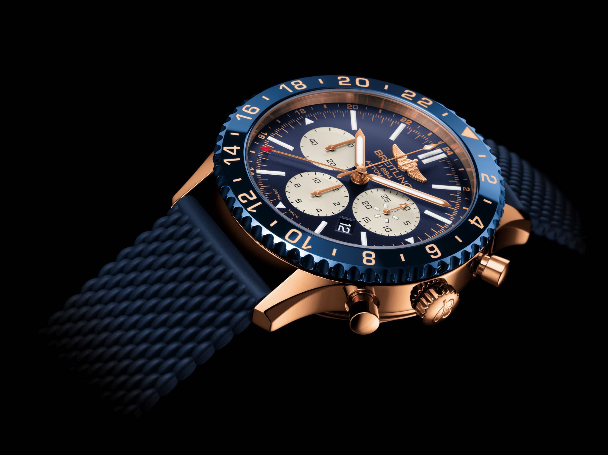 Die Breitling Chronoliner B04 in Rotgold