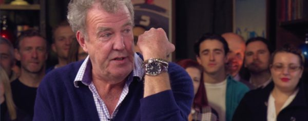 The Grand Tour's Jeremy Clarkson Wears An Omega Railmaster XXL On Screen… And He Shows It In His Own Way