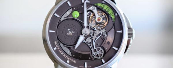 The new Schwarz Etienne Roswell 08 with a Complex Date Mechanism