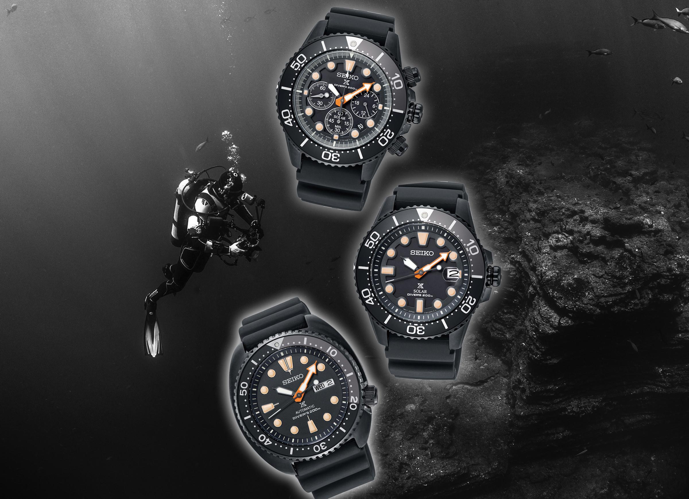 Die Seiko Prospex Black Series Diver's