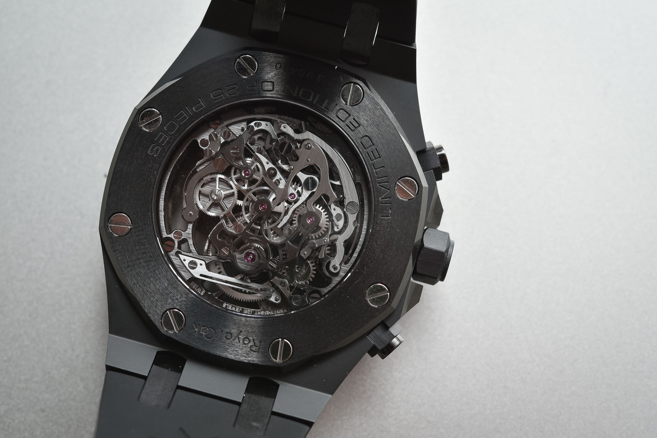 Audemars Piguet Royal Oak Tourbillon Chronograph Openworked Black Ceramic ref. 26343CE