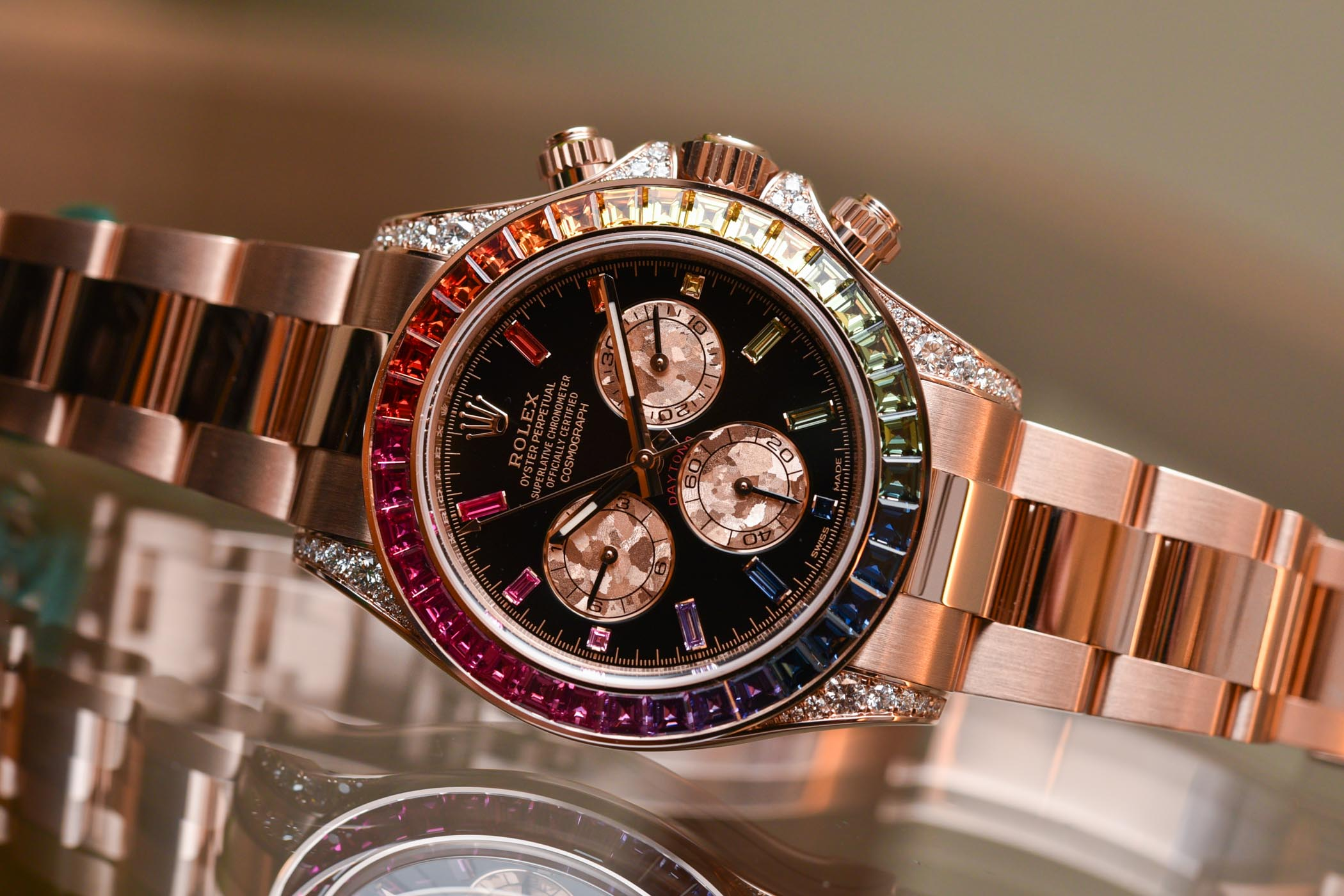 2018 Rolex Daytona Rainbow Everose Gold 116595RBOW