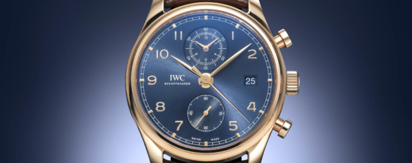 Introducing – IWC Portugieser Chronograph Classic Bucherer Blue Editions in Red Gold