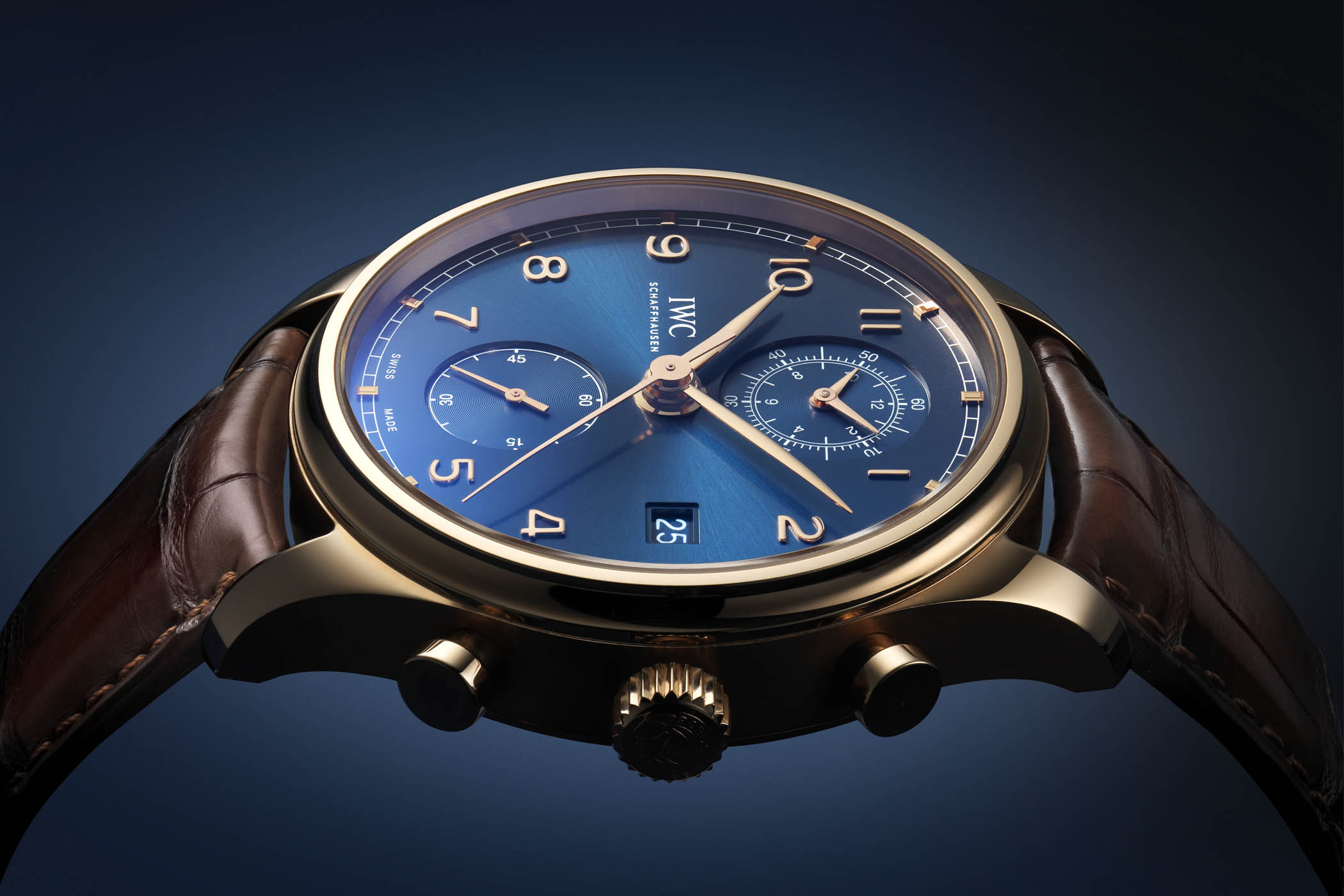 IWC Portugieser Chronograph Classic Bucherer Blue Editions Red Gold IW3903