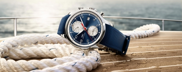 "Introducing – IWC Debuts The Portugieser Yacht Club Chronograph ""Summer Edition"" Along With a Collection of New Fabric Straps"