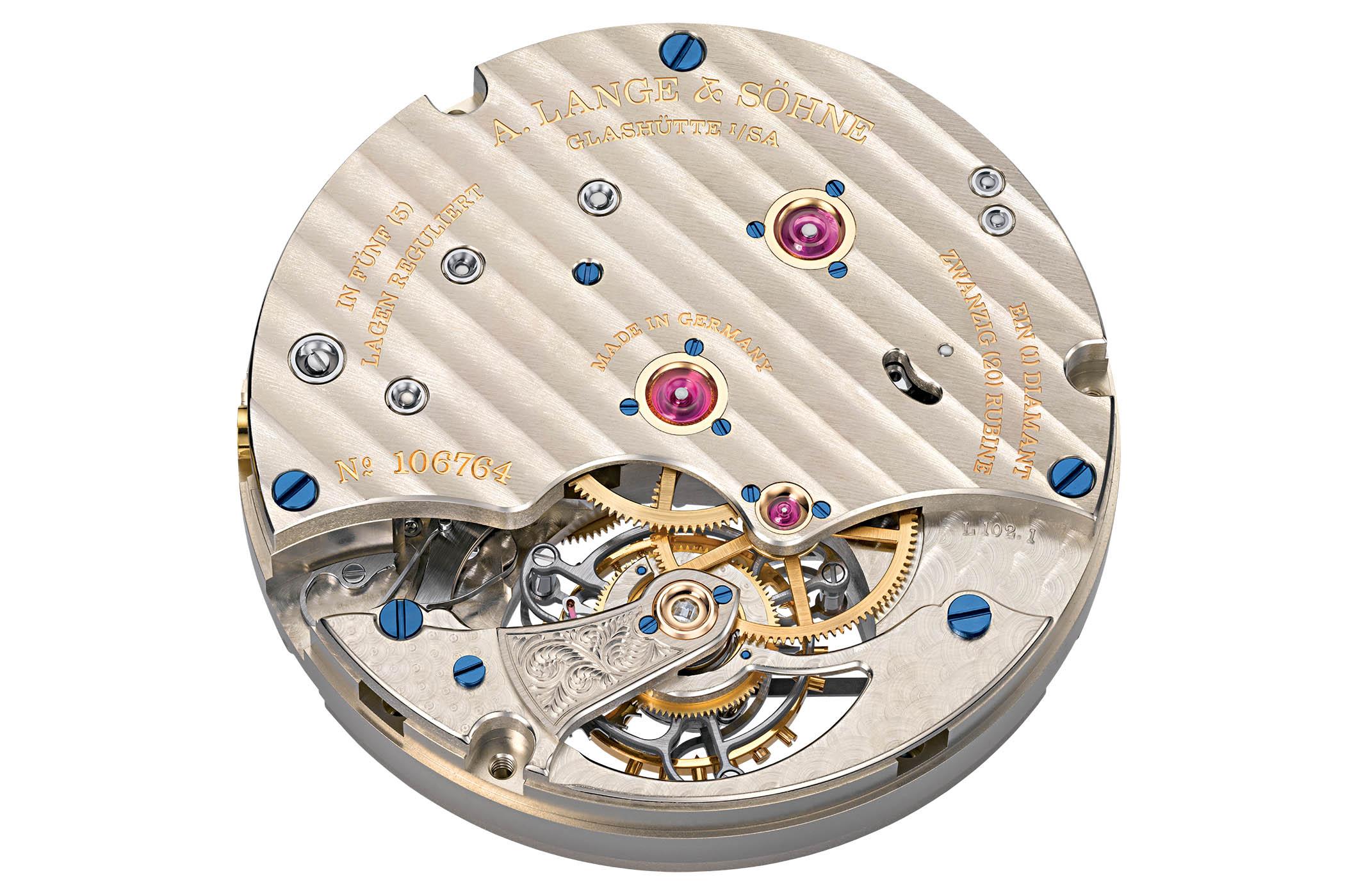 A. Lange & Söhne 1815 Tourbillon White Enamel Dial Platinum case limited edition 730.079F