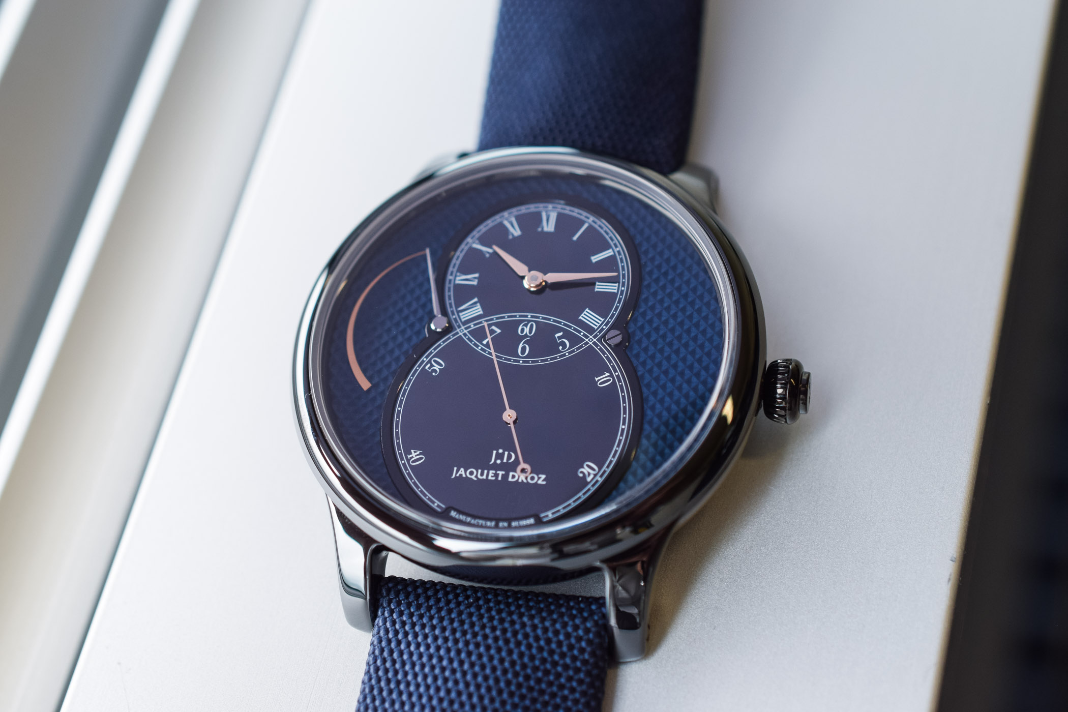 Jaquet-Droz Grande Seconde Power-Reserve Ceramic Clou De Paris 2018