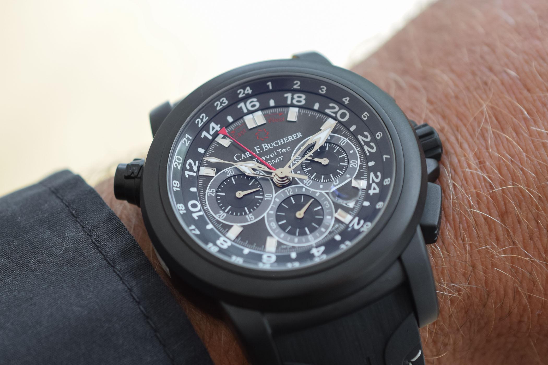 Carl F. Bucherer Patravi TravelTec Black GMT Chronograph
