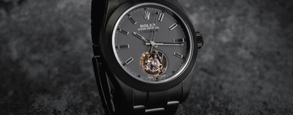 News – The First Rolex Tourbillon, Created by Customization-Brand Label Noir
