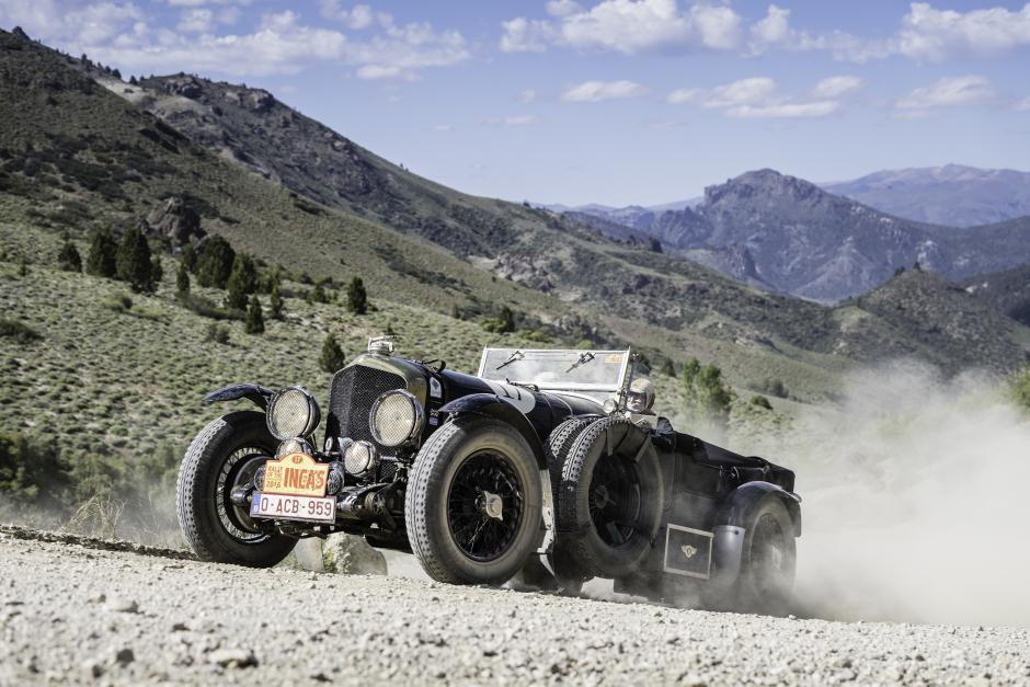 Anton Gonnissen in his Bentley