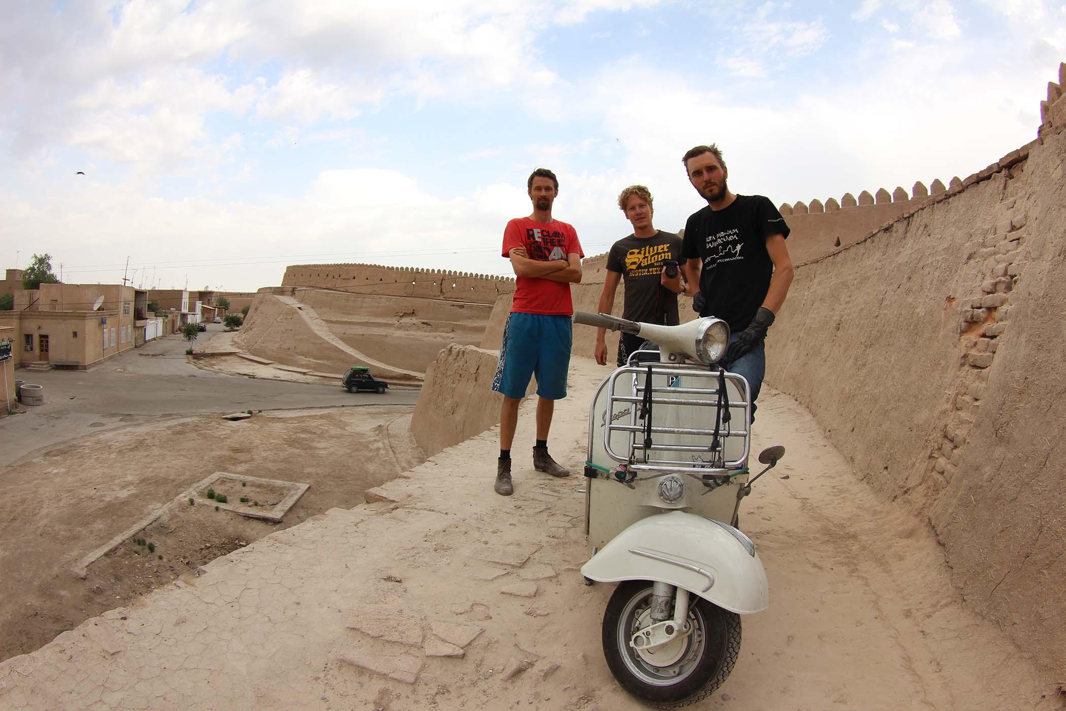 City wall in Khiva Oezbekistan