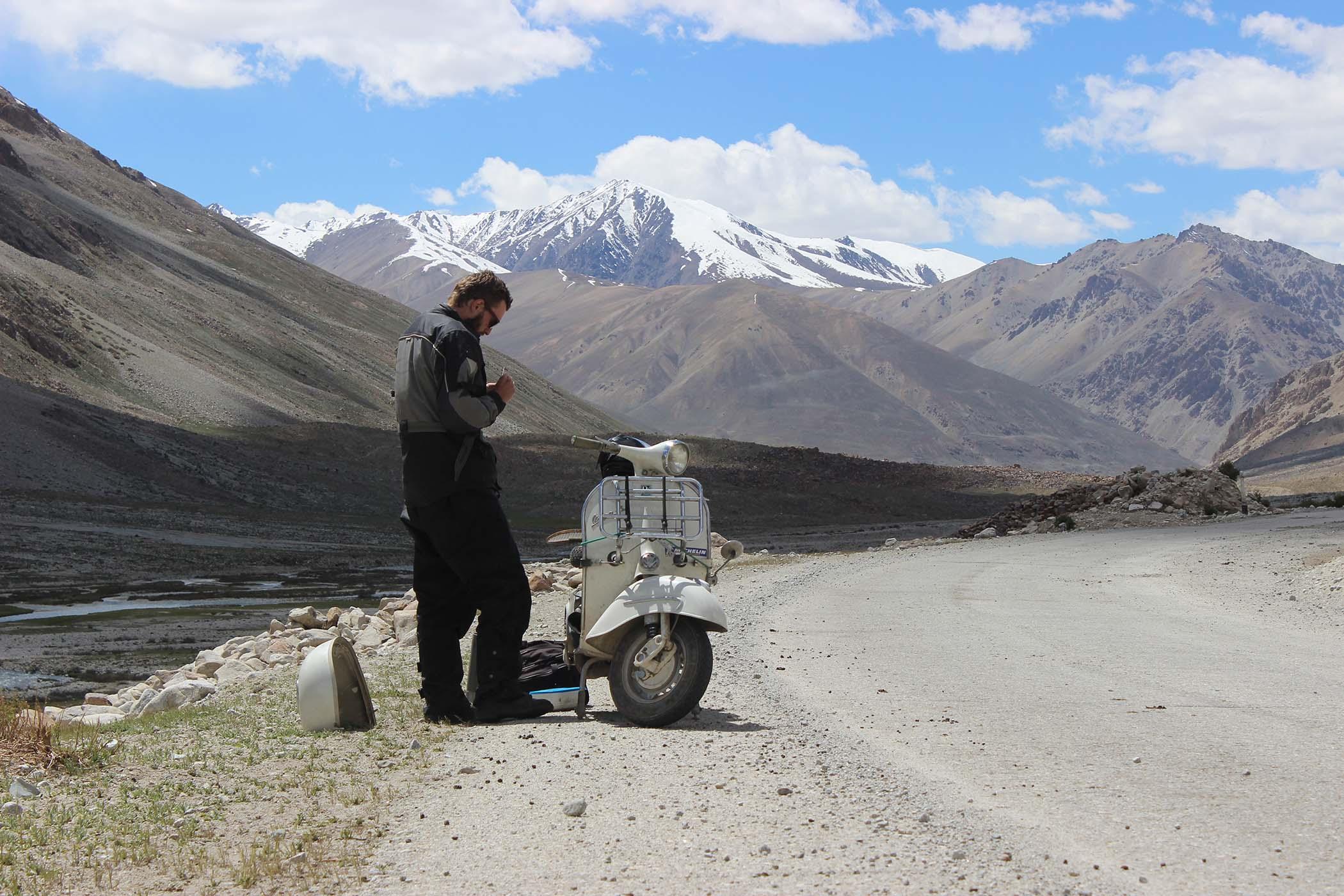 Tuning the Vespa in Tajikistan