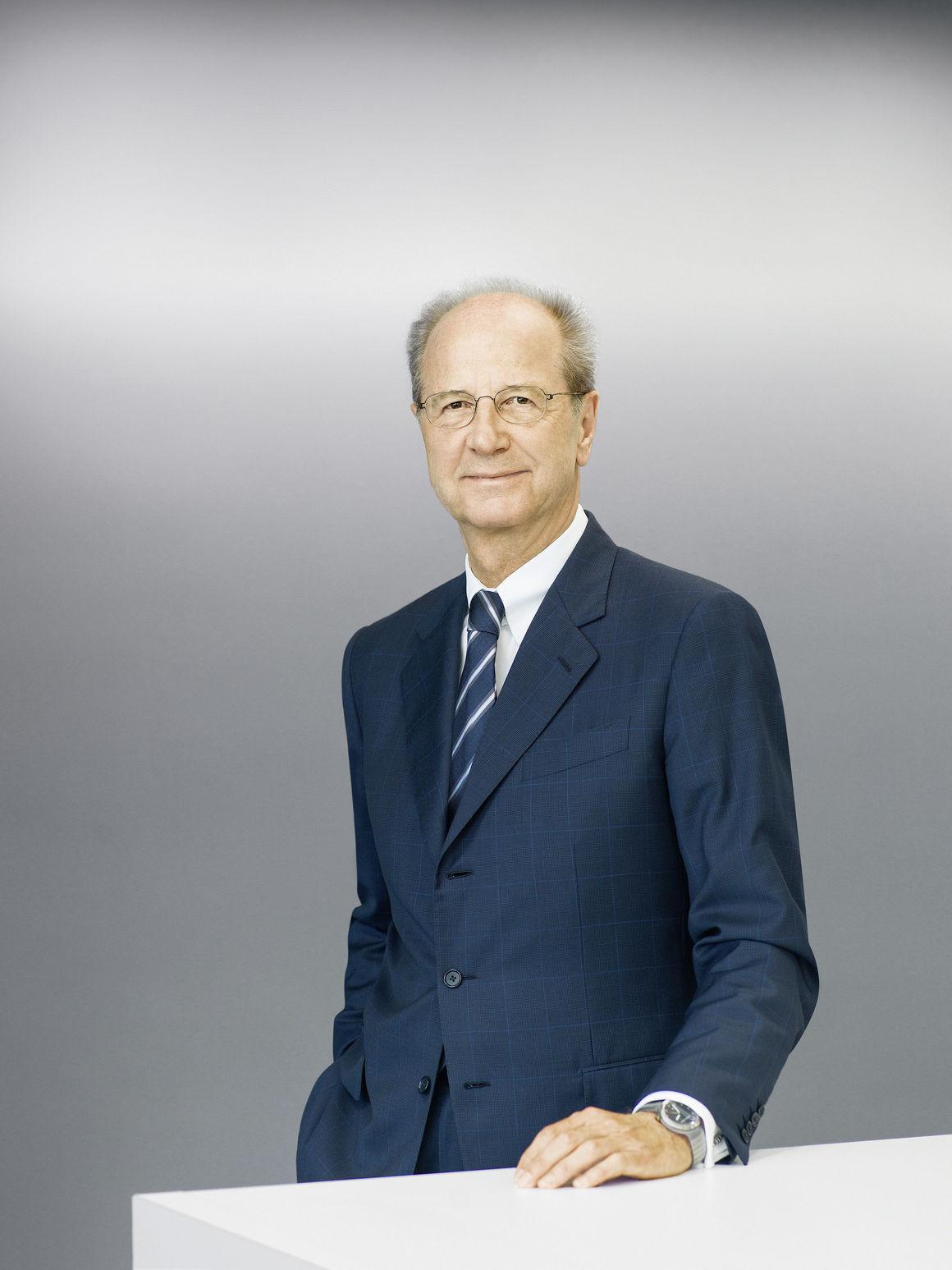 Spotted - Hans Dieter Pötsch, Chairman of Porsche SE, With IWC Porsche Design Ocean 2000
