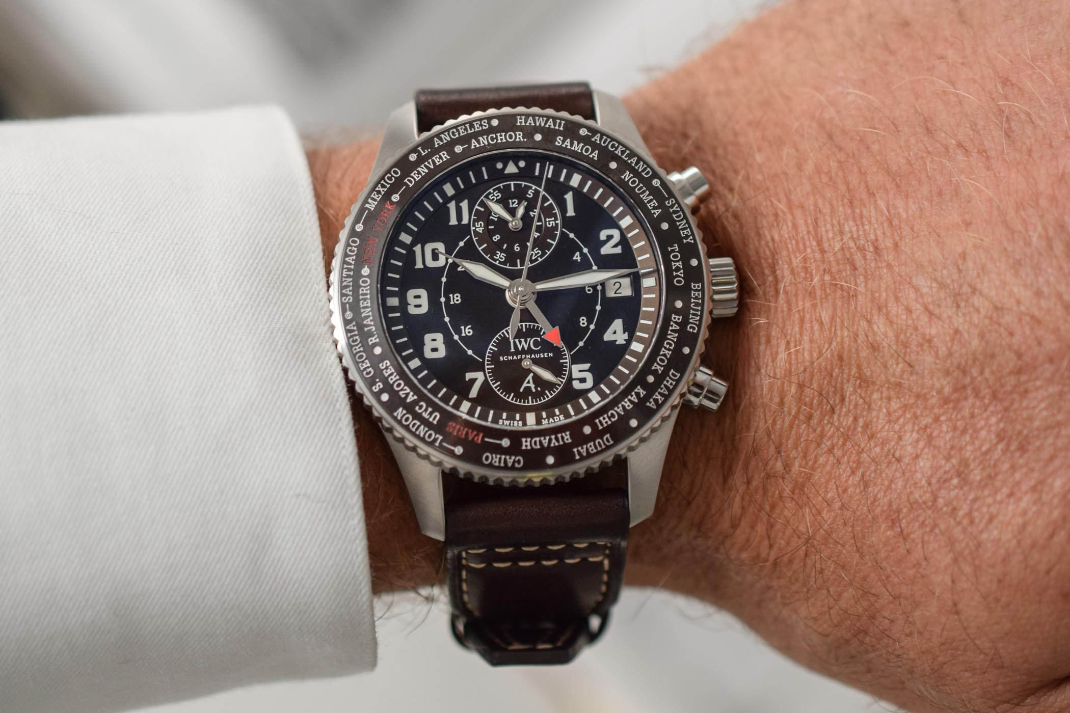 IWC Pilot's Watch Timezoner Chronograph 80 Years Flight To New York Saint Exupery - IW395003
