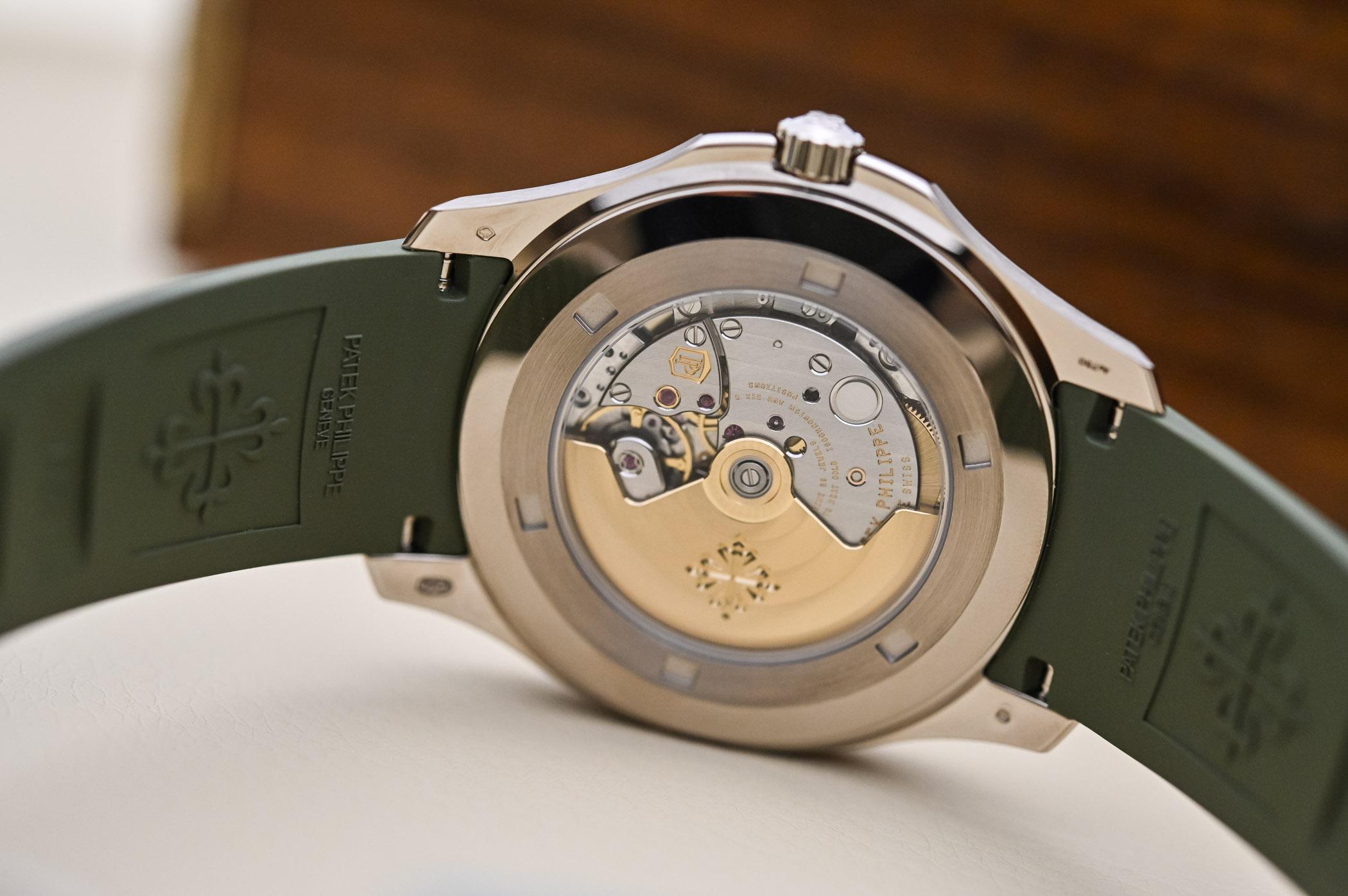 Patek Philippe Aquanaut Jumbo 5168G Khaki Green White Gold