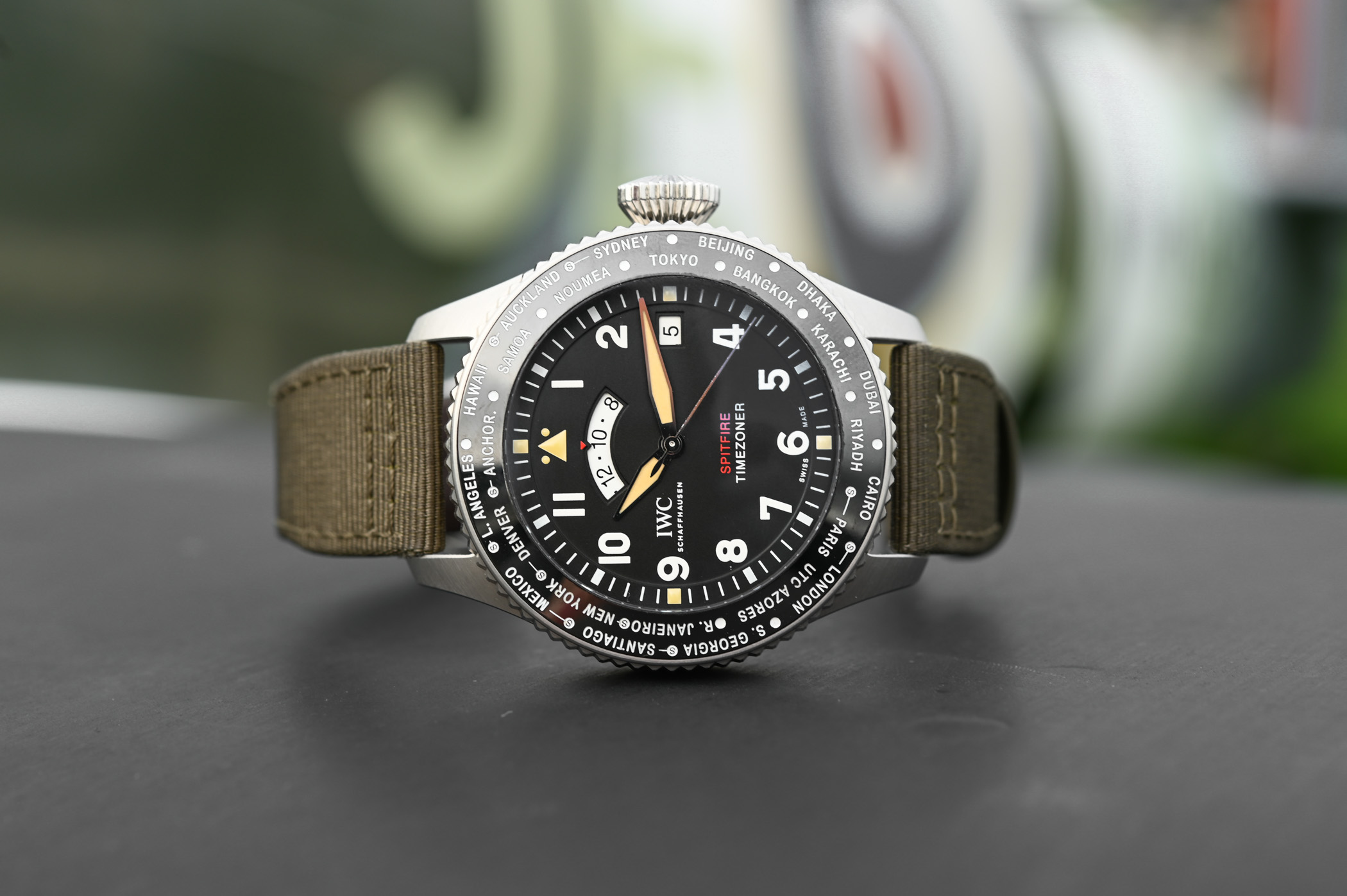 IWC Pilots Watch Timezoner Spitfire Edition The Longest Flight IW395501 - SIHH 2019