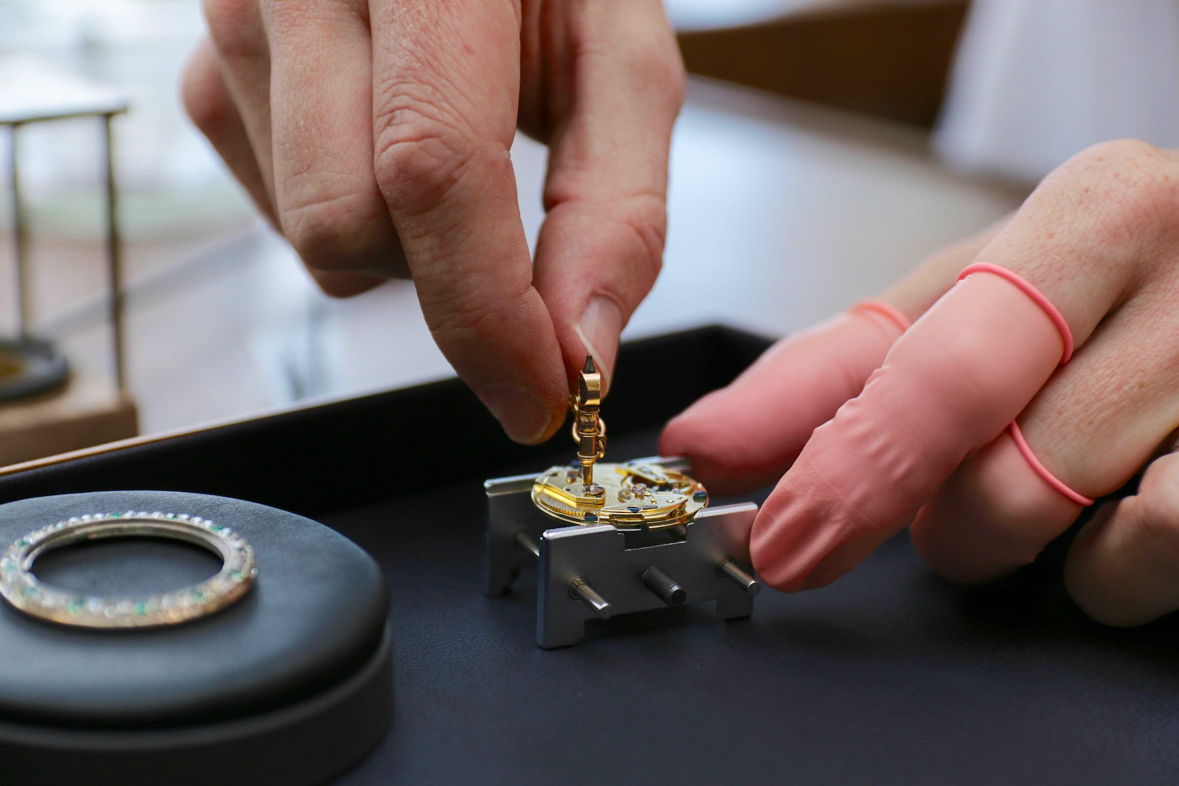 Im Atelier für Restauration von Breguet