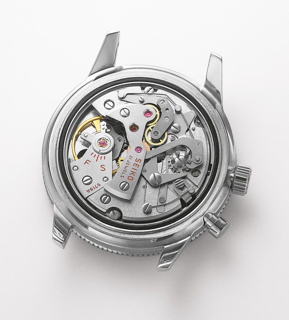 1964 Seiko calibre 5719 first chronograph seiko and japan
