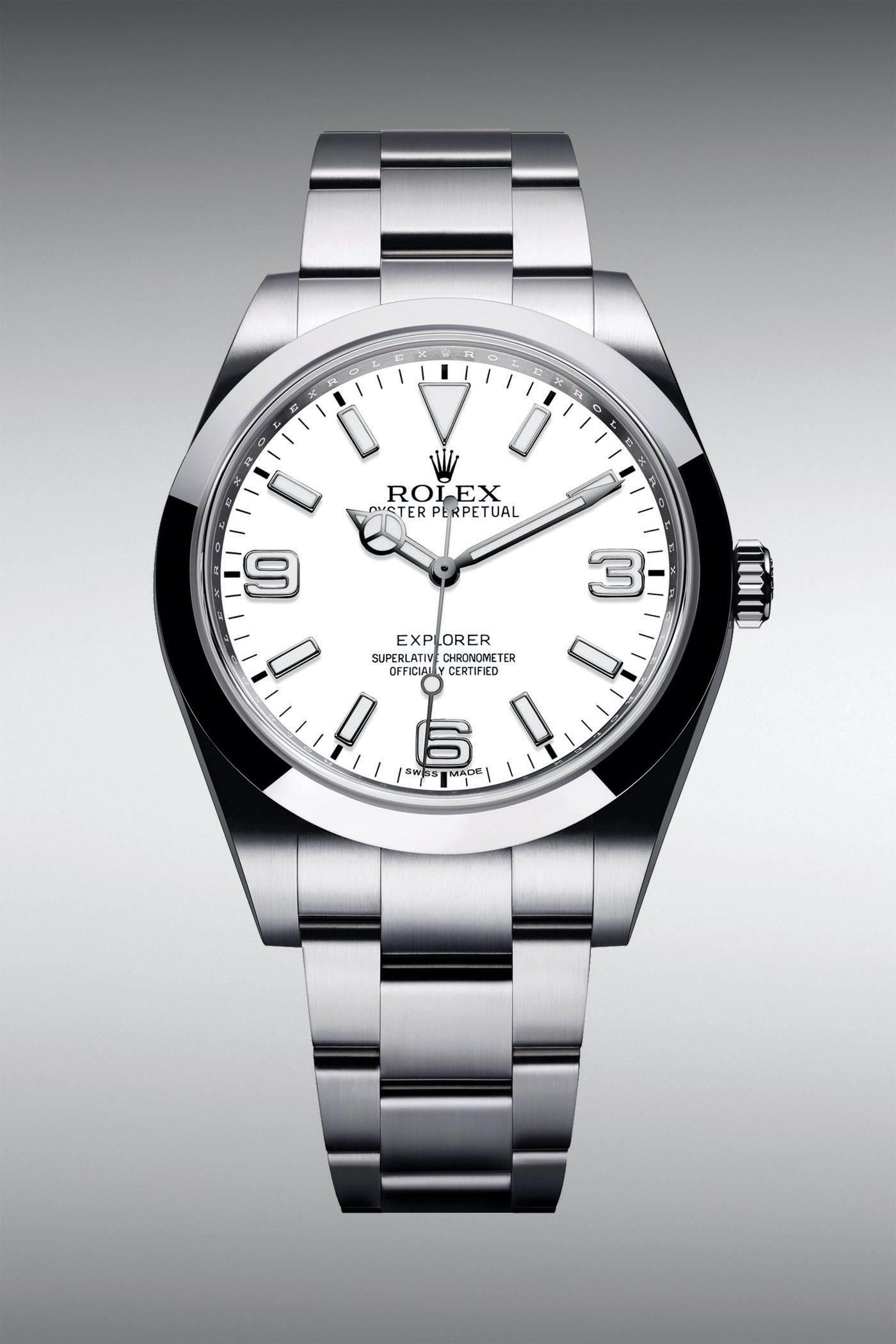 Rolex Explorer 39 Polar White Dial Oyster Bracelet - Rolex Baselworld 2020 - Rolex 2020 Predictions
