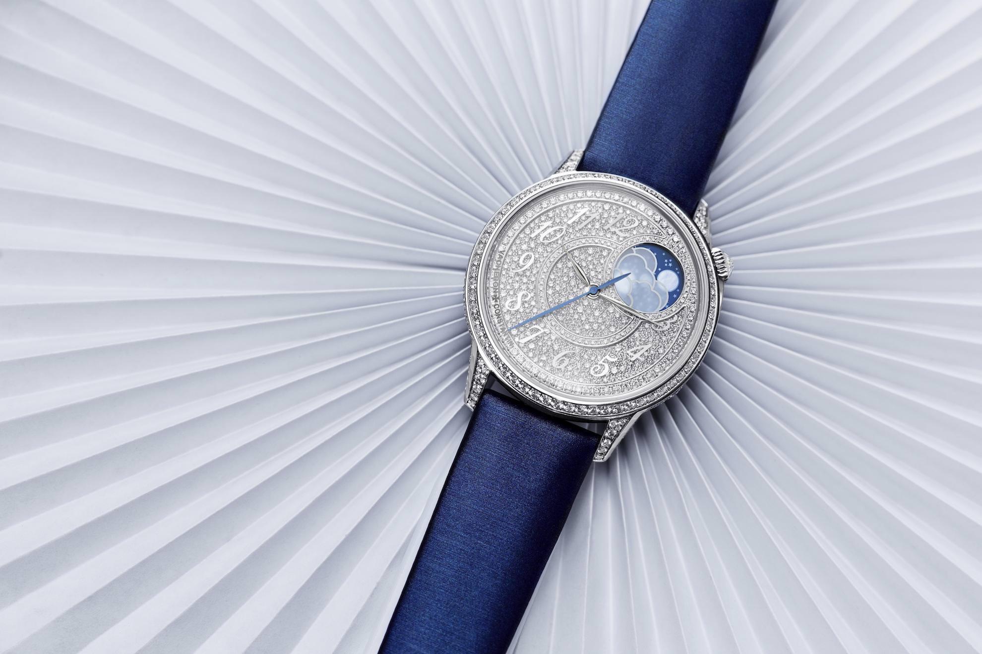 Die neue Vacheron Constantin Égérie Mondphase Diamantpavé