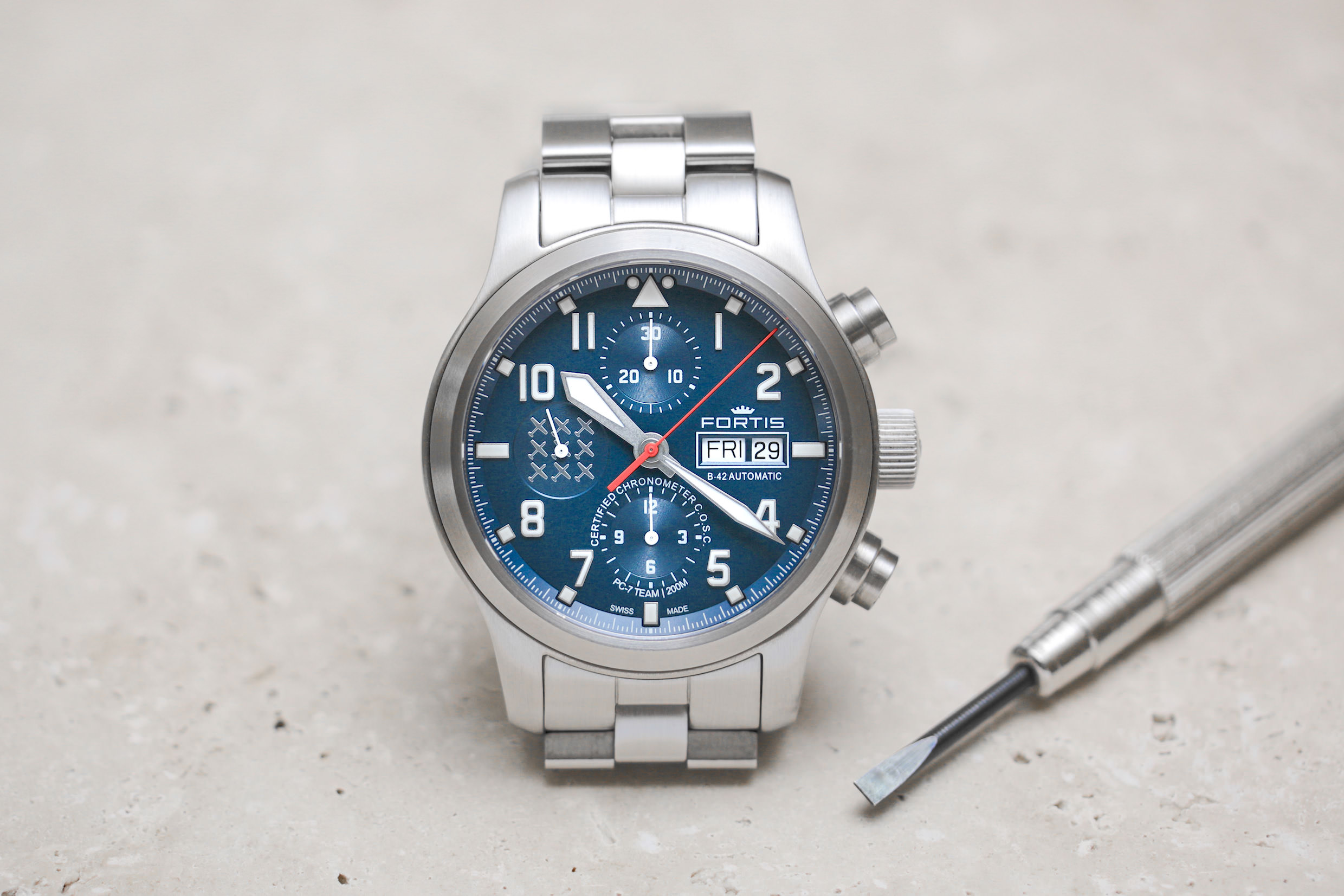 Die Fortis PC7 Team Edition Chronograph