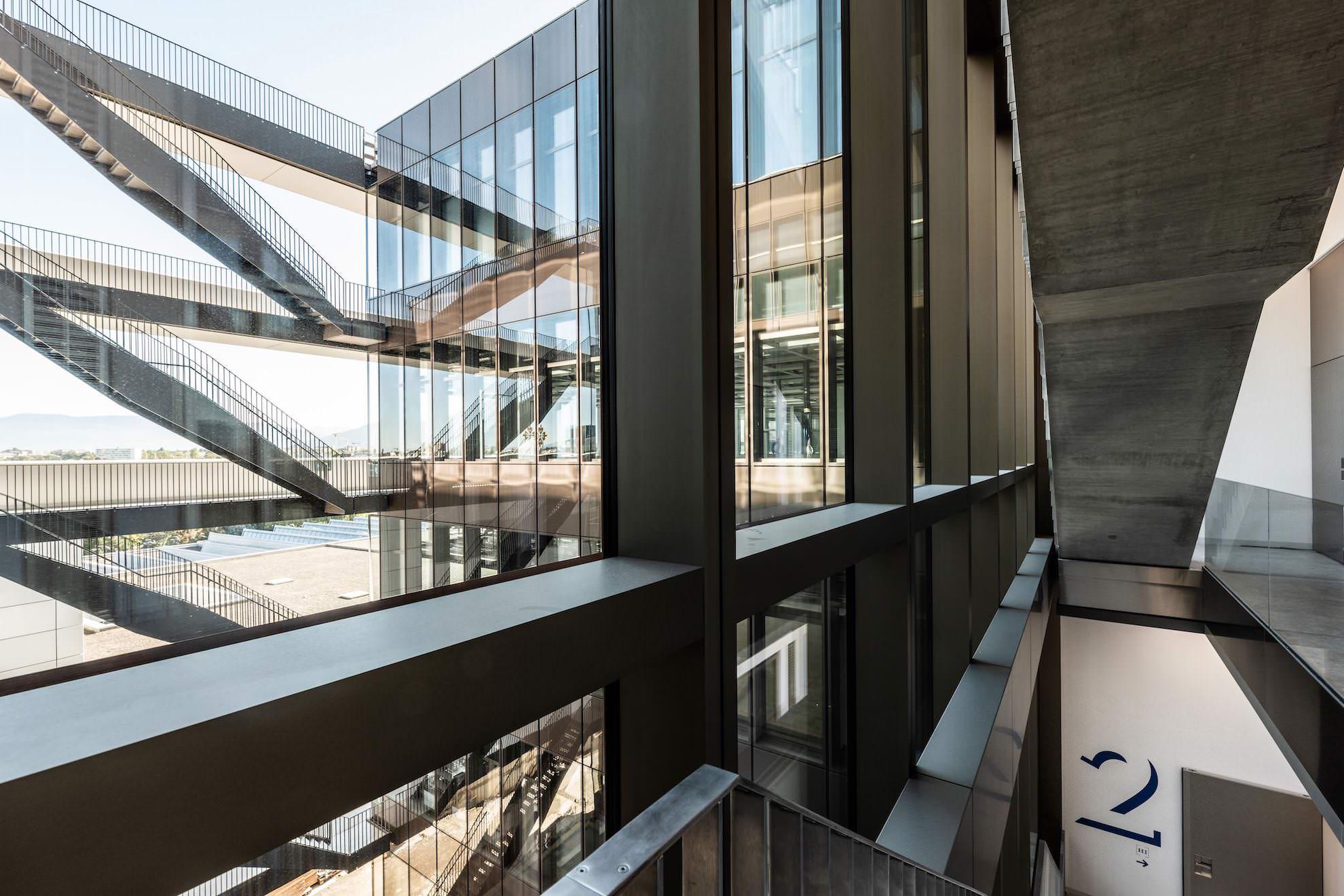 Das neue Manufakturgebäude in Plan-les-Ouates