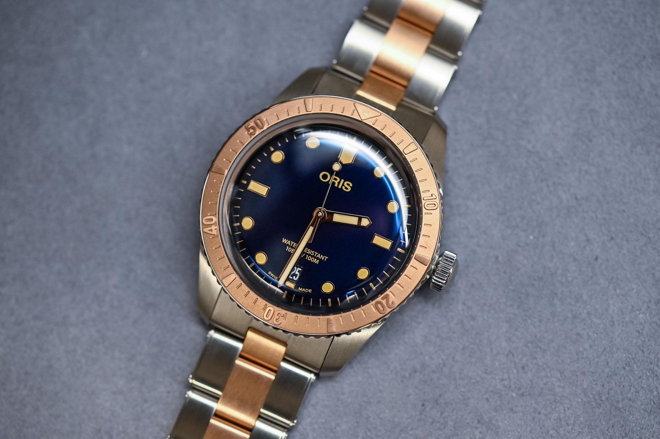 Oris-Divers-Sixty-Five-Bi-Colour-Bico-Steel-and-Bronze-Bracelet-baselworld-2019