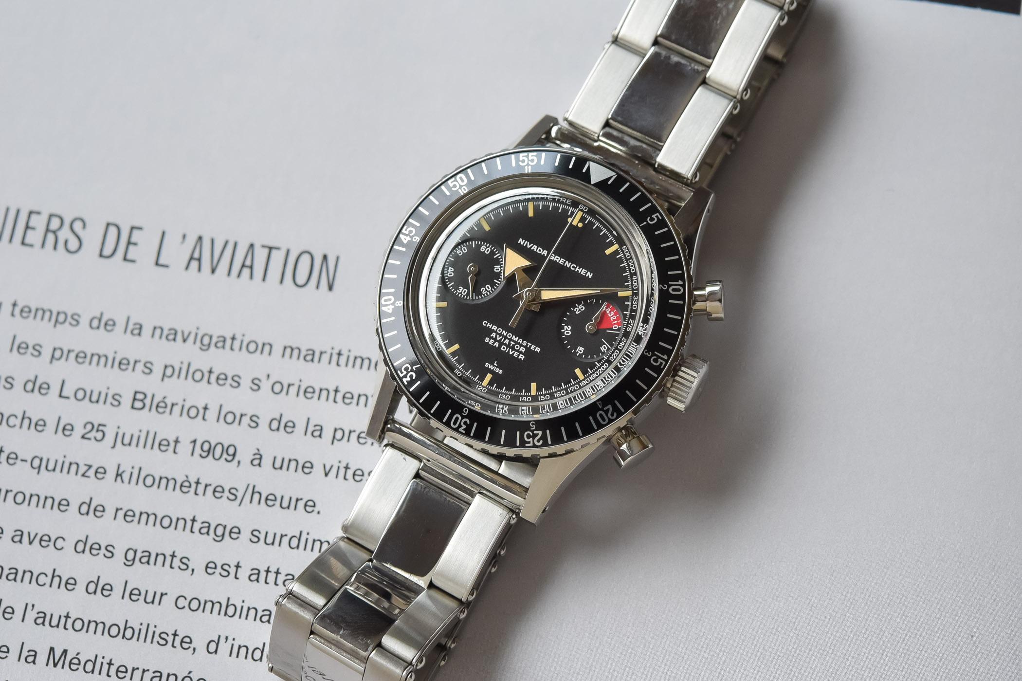 Nivada Grenchen Chronomaster Aviator Sea Diver Re-edition 2021