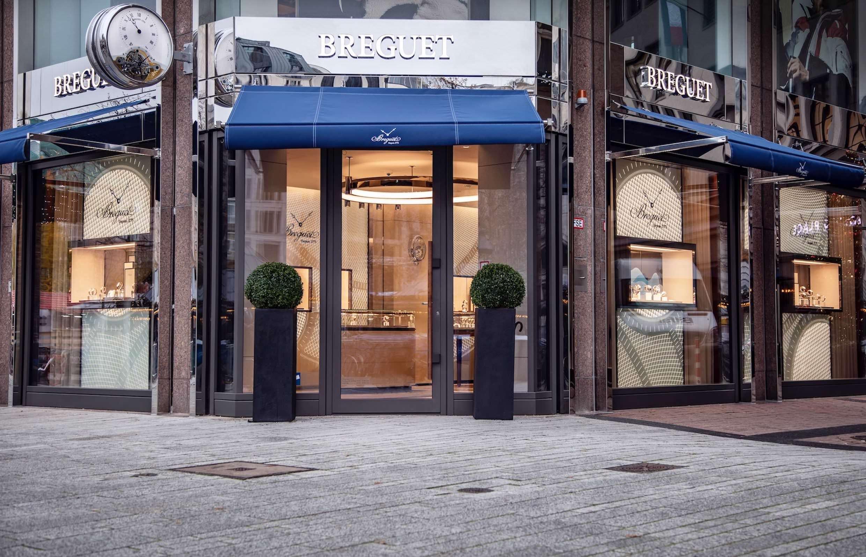 Die Breguet Boutique Düsseldorf von außen