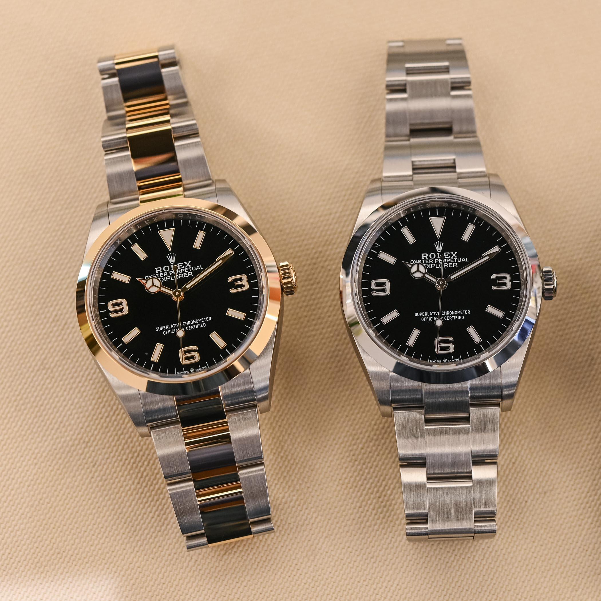2021 Rolex Explorer 1 36mm 124270 - 124273