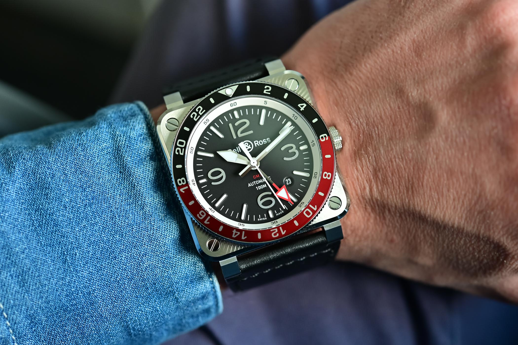 Bell & Ross BR 03-93 GMT BR0393-BL-ST/SCA