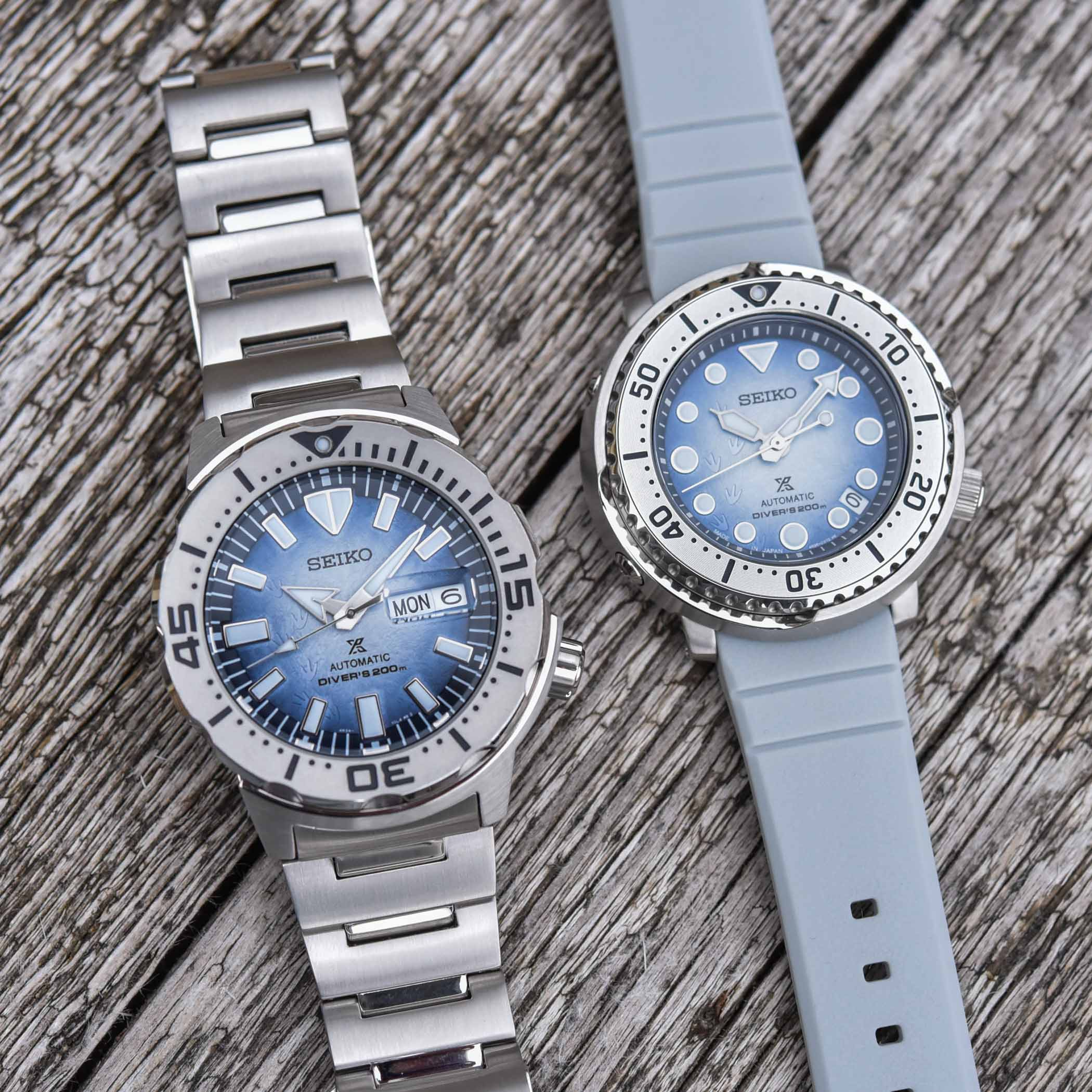 Seiko Prospex Save The Ocean Antarctica Monster SRPG57K1 - Baby Tuna SRPG59K1