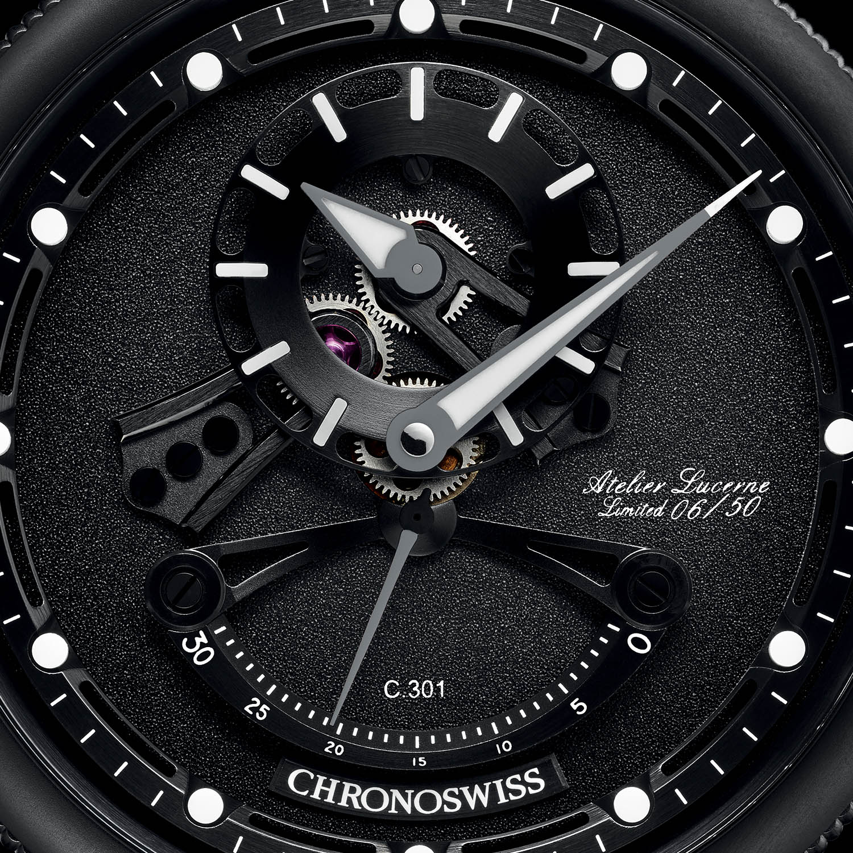 Chronoswiss Open Gear ReSec Black Ice
