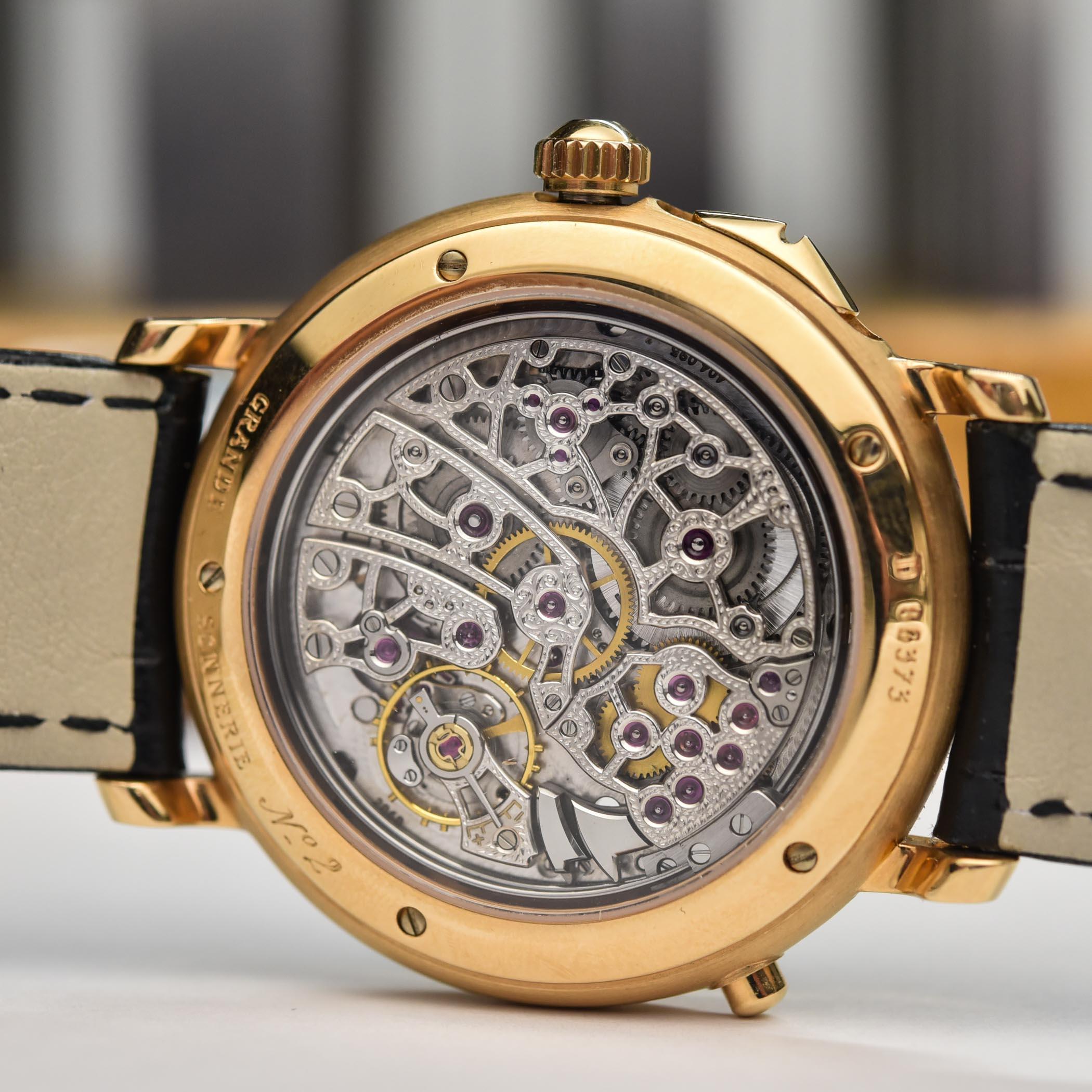Audemars Piguet quarter repeating grande and petite sonnerie wristwatch 25847BA calibre 2868